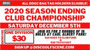 2020 Durant Disc Golf Club Championship graphic