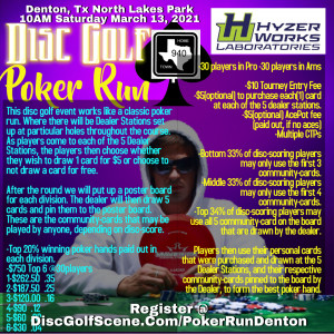 Disc Golf Poker Run Denton graphic