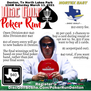Disc Golf Poker Run Denton graphic