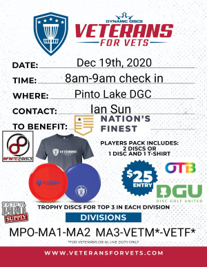 Pinto Lake Christmas Veterans Fundraiser graphic