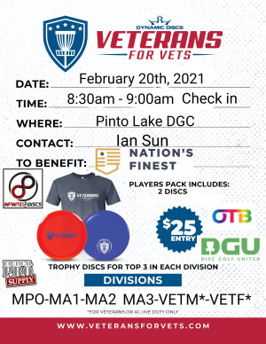 Pinto Lake Veterans Fundraiser graphic