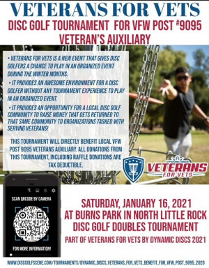 DD Veterans for Vets, benefit for VFW Post #9095 Veteran's Auxiliary graphic