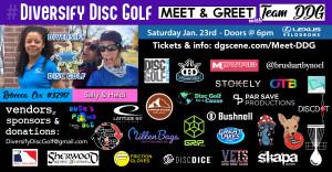 Diversify Disc Golf Meet & Greet Ft. Rebecca Cox graphic
