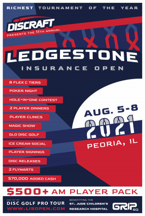 2021 Discraft Ledgestone Insurance Open presented by GRIPeq graphic