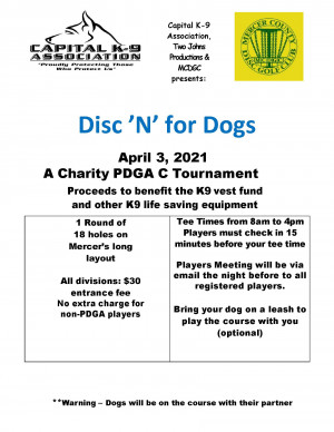 Disc'n' for Dogs VIII - benefiting Capital K-9 Association graphic
