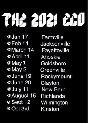 2021 ECO Tour Fayetteville graphic
