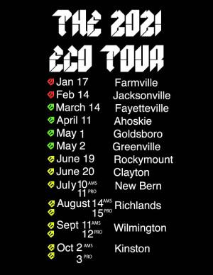 2021 ECO Tour Clayton graphic