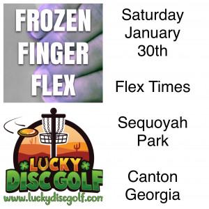 Frozen Finger Flex sponsored by LuckyDiscGolf.com graphic
