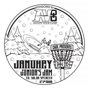 """CJ3"" CADL Presents: January Junior's Jam Sponsored By AV8 Disc Golf graphic"