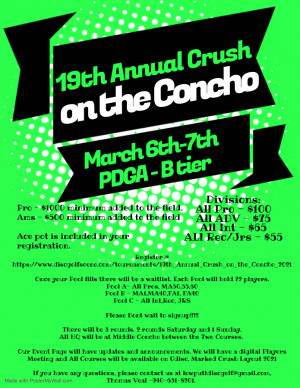 19th Annual Crush on the Concho graphic