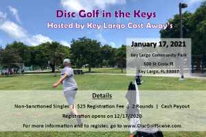 Disc Golf in the Keys Hosted by Key Largo Cast Away's graphic