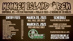 2021 Dynamic Discs Monkey Island Open (Pro and Intermediate Divisions) $5K/$10K Ace graphic