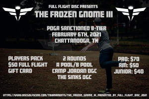 The Frozen Gnome III - Presented by Full Flight Disc graphic