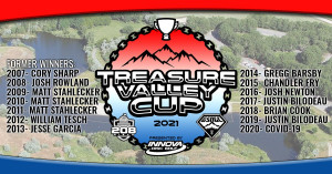 Treasure Valley Cup Driven by Innova Discs, 208 Discs and Integrity Heating and Air graphic