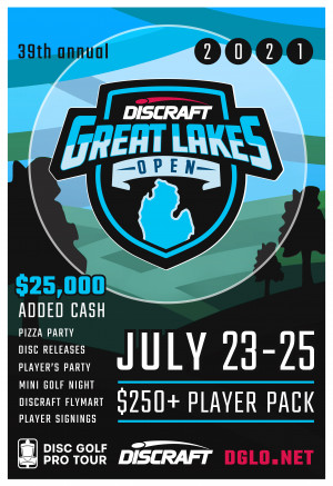 Discraft's Great Lakes Open graphic