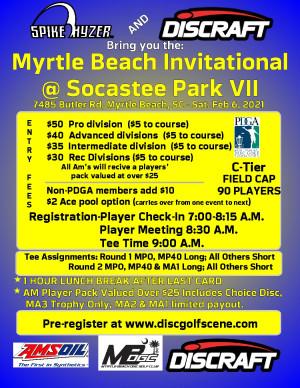 Discraft Presents: Spike Hyzer's: Myrtle Beach Invitational @ Socastee VII graphic
