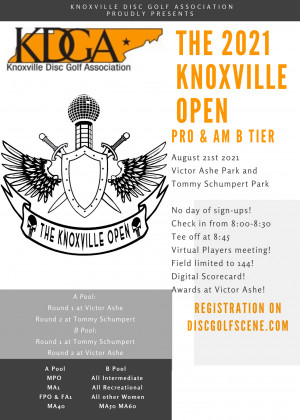 The KDGA Presents: The 2021 Knoxville Open graphic