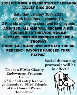2021 Ice Bowl Presented by Lebanon Valley Disc Golf graphic