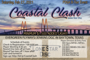 Coastal Clash Presented by Lonestar Discs graphic