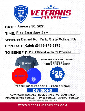 Centre Region Veterans for Vets supporting the Penn State Office of Veterans Programs graphic