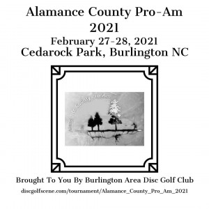 Redemption Disc Golf presents the Alamance County Pro-Am graphic