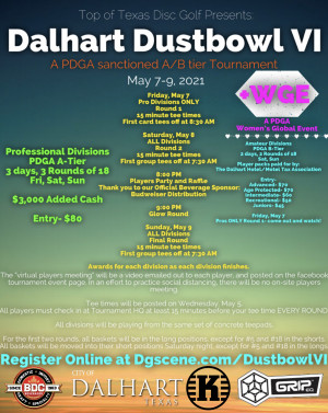 Top of Texas Disc Golf Presents: Dalhart Dustbowl VI +WGE graphic