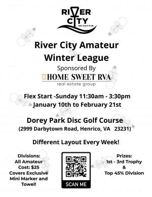 River City Winter AM League PDGA Sanctioned 1/10/21-2/21/21 graphic