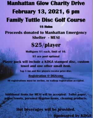 Manhattan Glow KDGA Charity Drive graphic