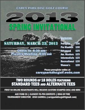 2013 Spring Invitational graphic