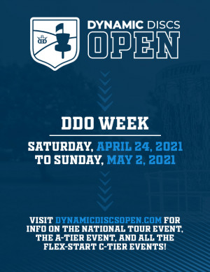 2021 DDO One Round Challenge Flex Start C-Tier at the Boyce Baumgardner Memorial DGC (Swope Park in Cottonwood Falls) graphic
