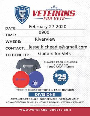 Veterans for Vets sponsored by Dynamic Discs graphic