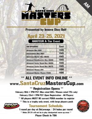2021 Santa Cruz Masters Cup - (Am) - Presented by Innova graphic