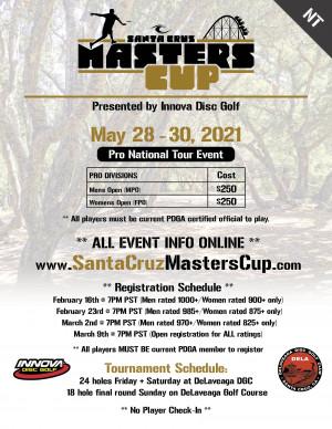 2021 Santa Cruz Masters Cup (NT) - Presented by Innova graphic