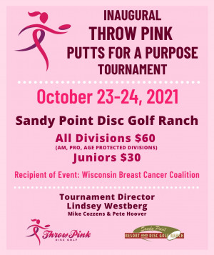 Throw Pink-Putts for a Purpose graphic