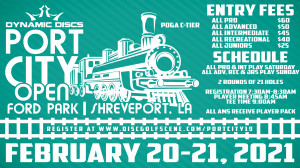Dynamic Discs Presents: 8th Annual Port City Open (All Advanced, Recreational and Juniors) graphic