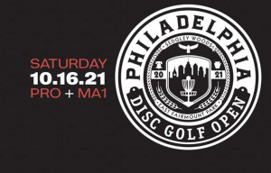 2021 Philadelphia Disc Golf Open - Pros and MA1 - Sponsored by Dynamic Discs - Presented by Sedgley Woods Glow graphic
