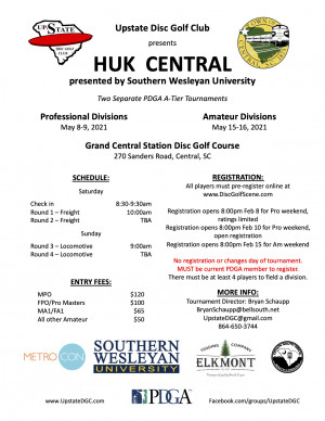 Huk Central presented by Southern Wesleyan University - Am graphic