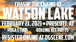 Chasin the Chains at Watson Lake graphic