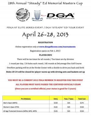 "28th Annual ""Steady"" Ed Memorial Masters Cup - Presented by DGA graphic"
