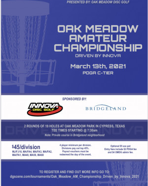 Oak Meadow AM Championship - Driven by Innova graphic