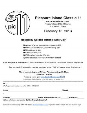 11th Pleasure Island Classic graphic