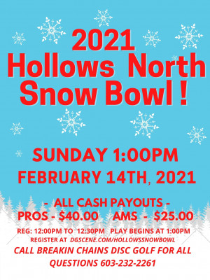 2021 Hollows Snow Bowl graphic
