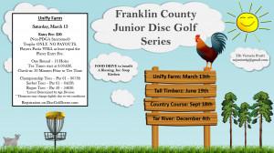Franklin County Junior Disc Golf Series - UF graphic