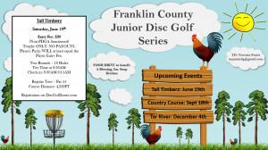 Franklin County Junior Disc Golf Series - TT graphic