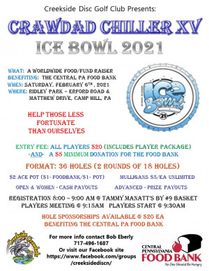 Crawdad Chiller XV Ice Bowl 2021 graphic