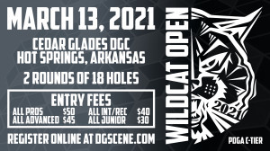 2021 Wildcat Open Sponsored by Dynamic Discs graphic