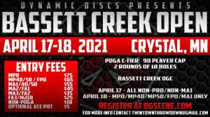 Bassett Creek Open - NON PRO/NON MA1 graphic