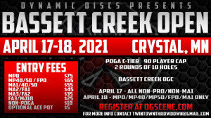 Bassett Creek Open - All PRO Divisions + MA1 graphic