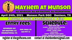 CB Mayhem at Munson - All Advanced, All Am Masters, and All Recreational graphic