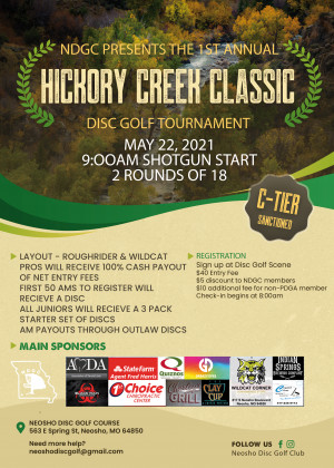 NDGC 1st Annual Hickory Creek Classic graphic